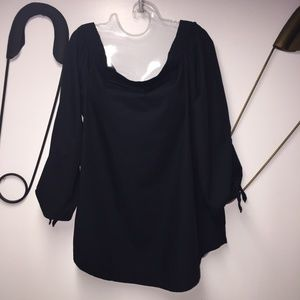 Free People black off the shoulder tunic